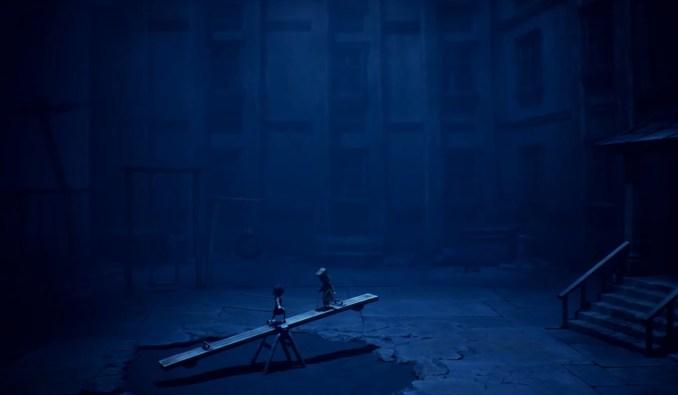 """Das Bild zeigt eine düstere Szene in """"Little Nightmares II""""."""