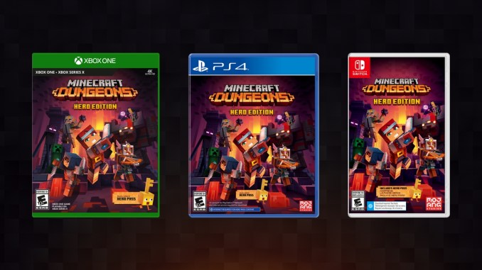 """Das Bild zeigt die Retail-Version von """"Minecraft Dungeons""""."""