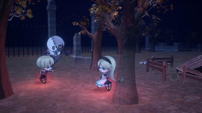 """Das Bild zeigt eine Szene aus dem Spiel """" OBAKEIDORO!""""."""