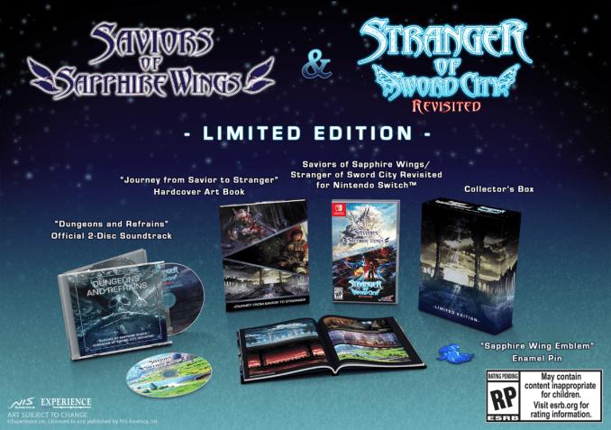 """Das Bild zeigt den Inhalt der Limited Edition von """"Saviors of Sapphire Wings""""."""