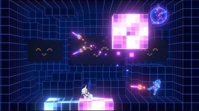 """Das Bild zeigt ein futuristisch angehauchtes Level aus dem Spiel """"Fallen Knight""""."""