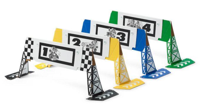 """Das Bild zeigt die Tore in """"Mario Kart Live: Home Circuit""""."""