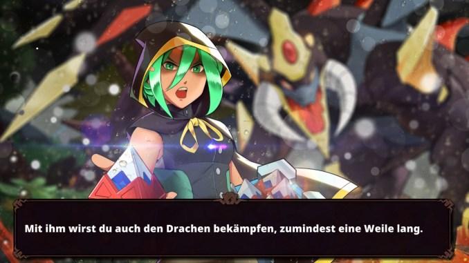 """Das Bild zeigt eine Szene zu Beginn des Spieles """"Nexomon: Extinction""""."""