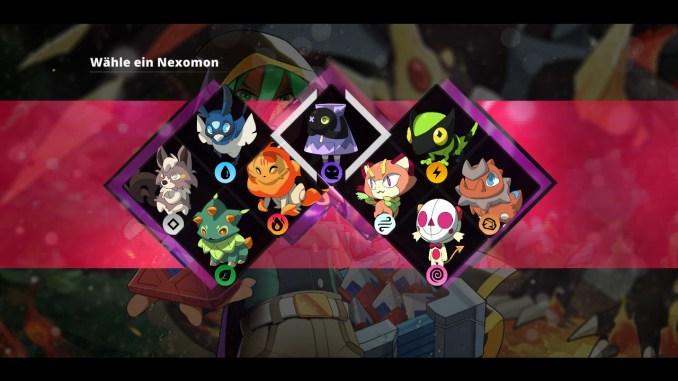 """Das Bild zeigt die neuen Starter des Spieles """"Nexomon: Extinction""""."""
