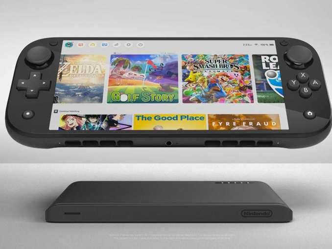 Das Bild zeigt ein Fan-Konzept zur Switch Pro.