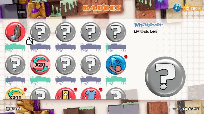 Das Bild zeigt die Achivements, die man im Laufe des Spieles erhalten kann.