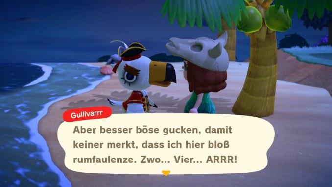 """Das Bild zeigt Gullivarrr, einer der Inselbesucher in """"Animal Crossing: New Horizons""""."""