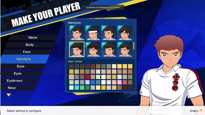 Das Bild zeigt einen kleinen Ausschnitt aus dem Charakter Editor