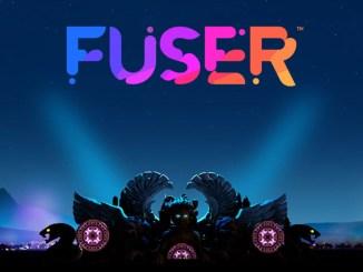 """Das Bild zeigt das Logo des Spieles """"Fuser""""."""