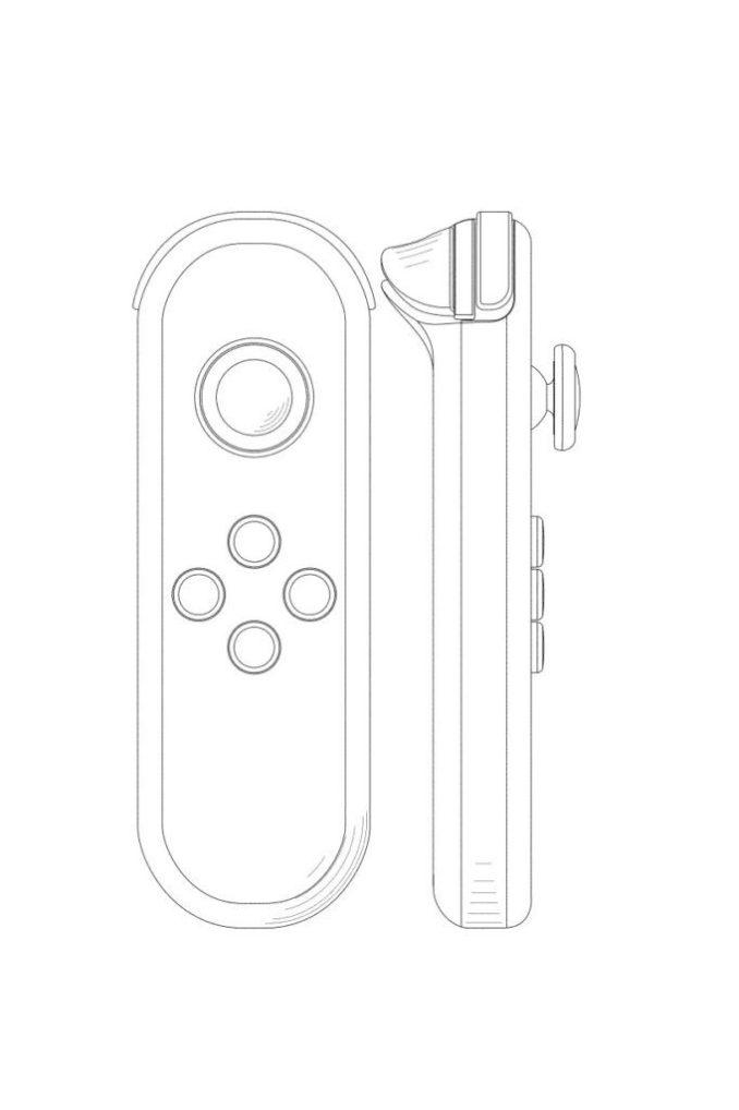 Das Bild zeigt den Joy-Con aus dem Nintendo-Patent.