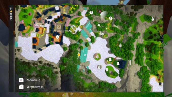 """Das Bild zeigt die Karte des ersten Bereiches von """"Ary and the Secret of Seasons""""."""