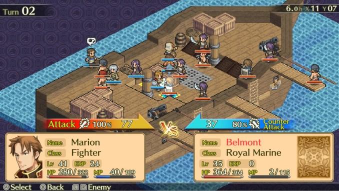 """Das Bild zeigt einen Kampf in """"Mercenaries Saga Chronicles""""."""