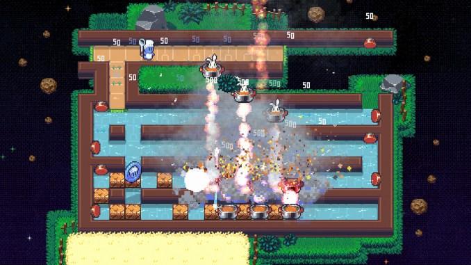 """Das Bild zeigt eine Szene aus dem Spiel """"Radical Rabbit Stew""""."""