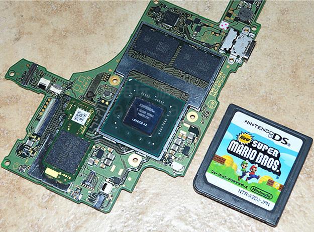 Dieses Bild zeigt die größe des Nvidia Tega-Chips
