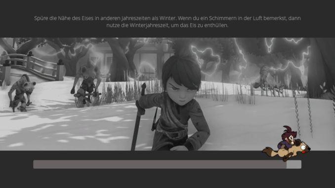 Das Bild zeigt den Ladebildschirm des Spieles.