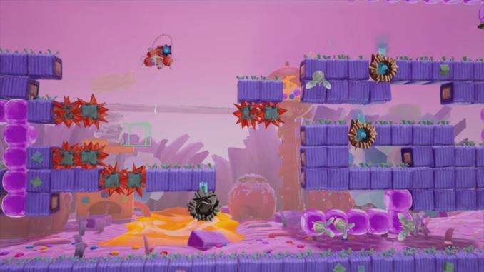 """Das Bild zeigt Candy in Action in dem Spiel """"Georifters""""."""