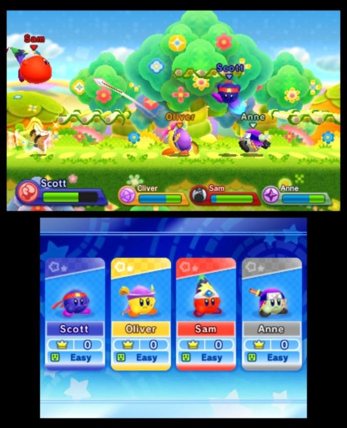 "Das Bild zeigt die Action in ""Kirby Fighters Deluxe""."