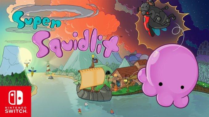 """Das Bild zeigt das Logo von """"Super Squidlit""""."""