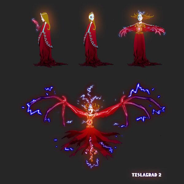 Das Bild zeigt ein Charakter-Design aus Teslagrad 2