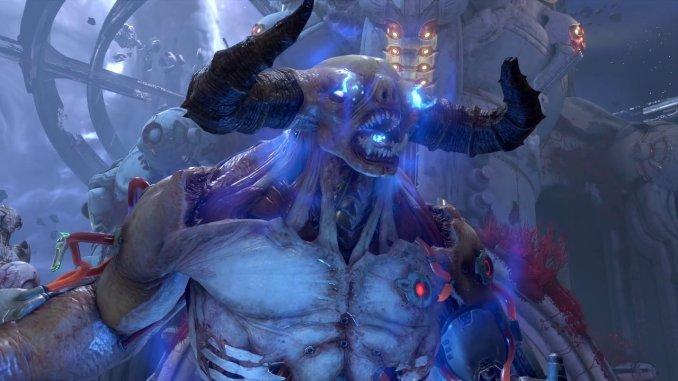"""Das Bild zeigt einen Dämonen im DLC von """"DOOM Eternal""""."""