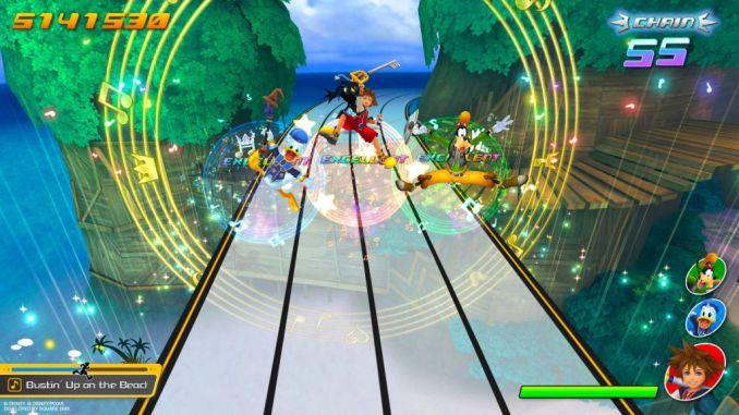 Dieses Bild zeigt das Gameplay von Kingdom Hearts: Melody of Memory