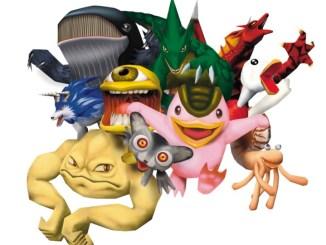 """Das Bild zeigt einige Monster aus dem Spiel """"Monster Rancher 2""""."""