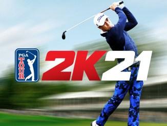 """Das Bild zeigt das Logo des Spieles """"PGA Tour 2K21""""."""