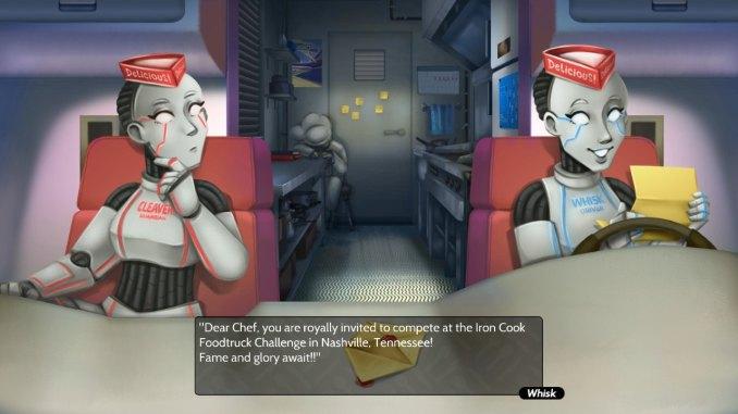 """Das Bild zeigt Cleaver und Whisk, zwei wichtige Charaktere in dem Spiel """"Cook, Serve, Delicious! 3?!""""."""