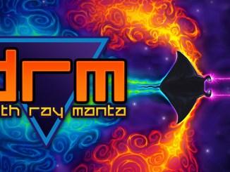 """Das Bild zeigt das Logo von """"Death Ray Manta SE""""."""