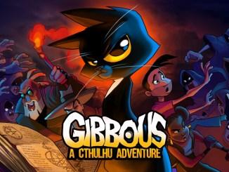 """Das Bild zeigt das Logo von """"Gibbous – A Cthulhu Adventure""""."""