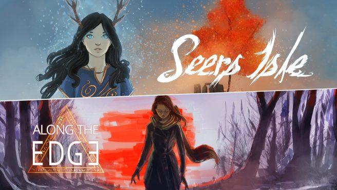 """Das Bild zeigt das Logo von """"Along the Edge"""" und """"Seers Isle""""."""