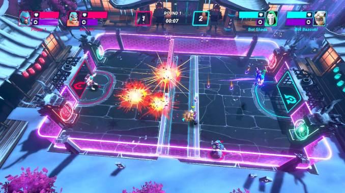 """Das Bild zeigt eine Arena in dem Spiel """"HyperBrawl Tournament """"."""