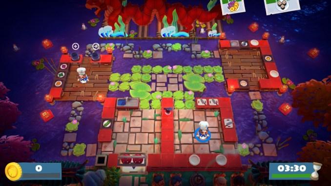 """Das Bild zeigt Level 1-2 aus dem neusten kostenlosen Update von """"Overcooked! 2""""."""