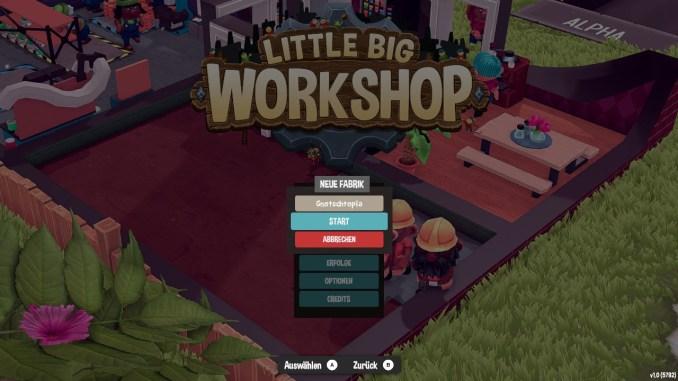 """Das Bild zeigt die Möglichkeit, einen eigenen Firmennamen zu wählen in """"Little Big Workshop""""."""