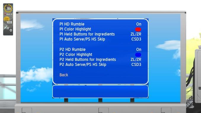 Das Bild zeigt das Optionsmenü des Spieles.