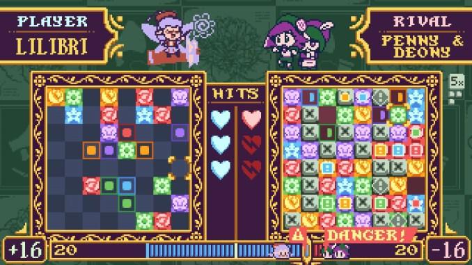 """Das Bild zeigt eine Szene aus dem Spiel """"Petal Crash"""". Man erkennt das Puzzle-Element des Spieles echt gut."""