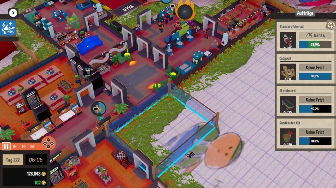 Das Bild zeigt den Bau eines neuen Raumes.