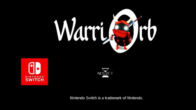 """Das Bild zeigt das Logo und den Protagonisten von """"Warriorb""""."""