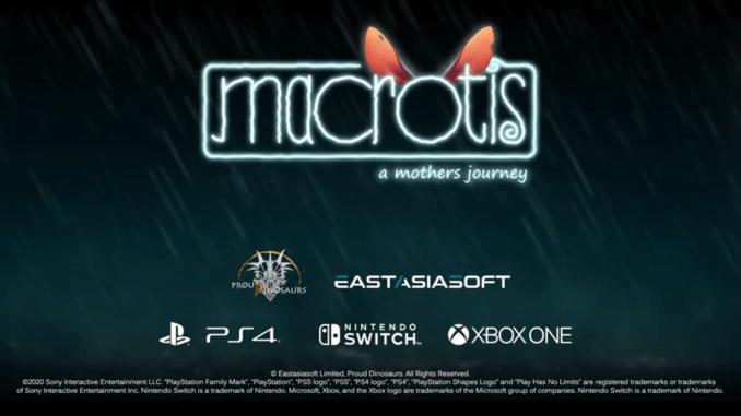 """Das Bild zeigt das Logo von """"Macrotis: A Mother's Journey""""."""