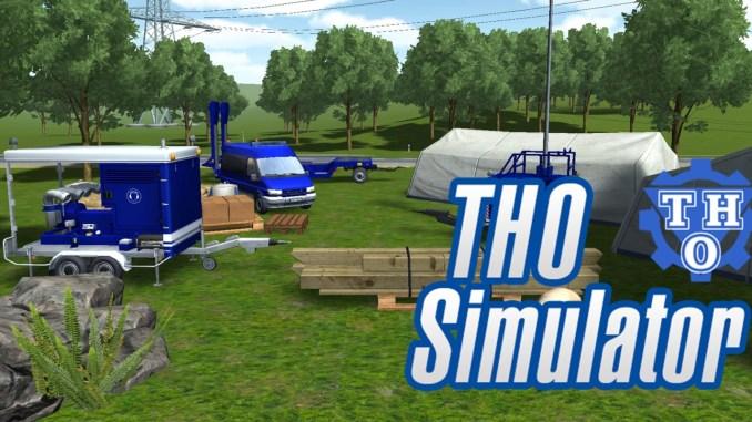 """Das Bild zeigt das Logo des Spieles """"THO Simulator""""."""