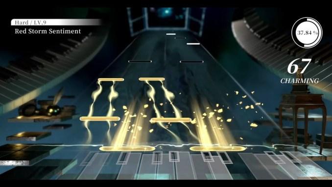 Das Bild zeigt den Rhytmuspart aus Deemo Reborn