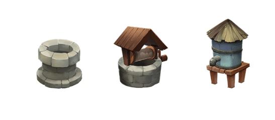 """Das Bild zeigt einige Gegenstände, welche bei """"Deiland: Pocket Planet Edition"""" gebaut werden können-"""