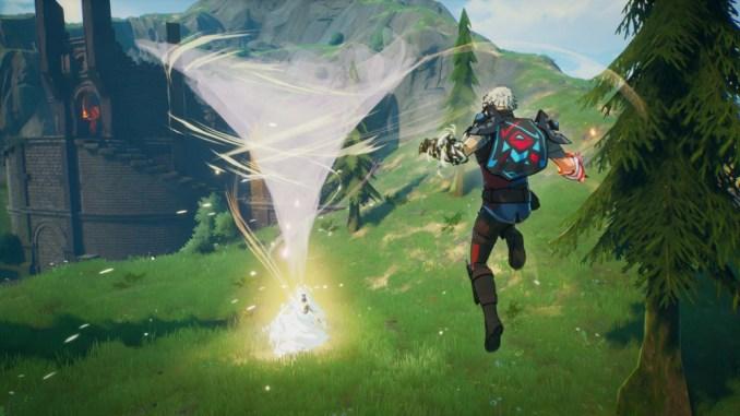Das Bild zeigt eine Wirbelwind Attacke von dem Spiel Spellbreak