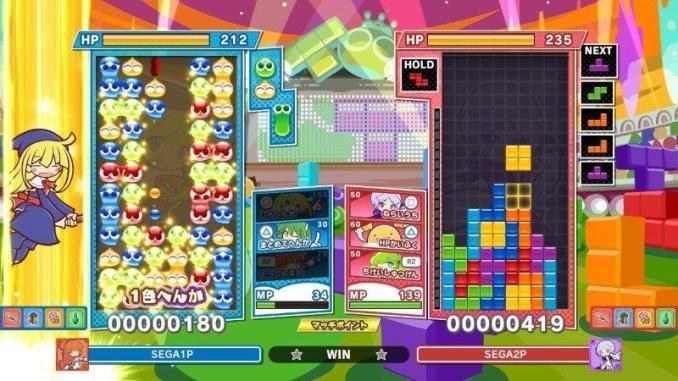 """Das Bild zeigt eine Partie in """"Puyo Puyo Tetris 2""""."""