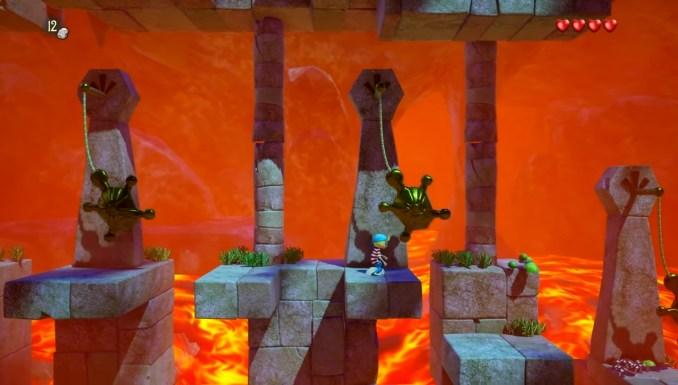 """Das Bild zeigt ein Hindernis in """"Captain Sabertooth and the Magic Diamond""""."""