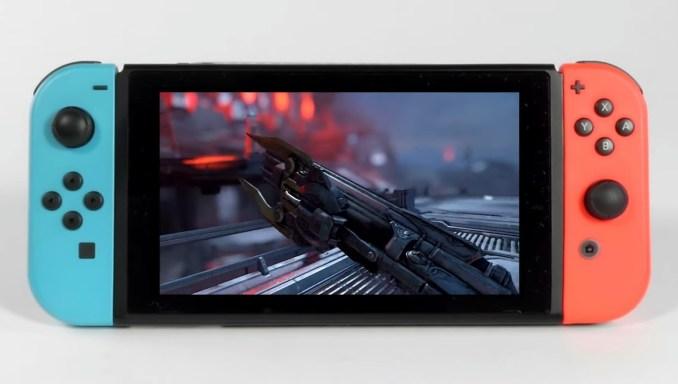"""Das Bild zeigt """"Doom Eternal"""" im Handheld-Modus."""