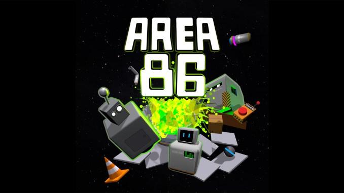 """Das Bild zeigt das Logo des Spieles """"Area 82""""."""