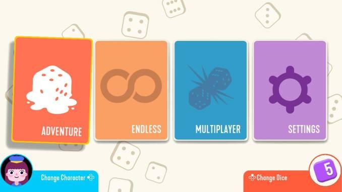 Das Bild zeigt den Auswahlbildschirm.