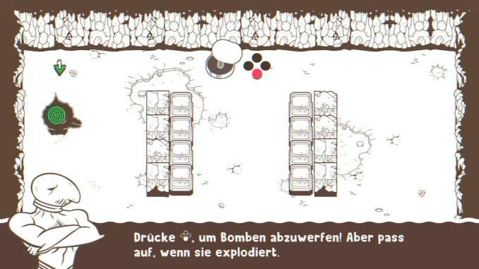 """Das Bild zeigt, wie man in """"Ponpu"""" Bomben legt."""