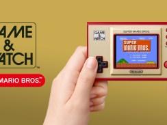 Das Bild zeigt das Game & Watch: Super Mario Bros.-System.